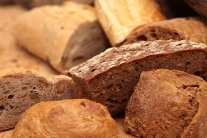 Gluten is commonly found in bread. It allows the yeast in dough to rise.
